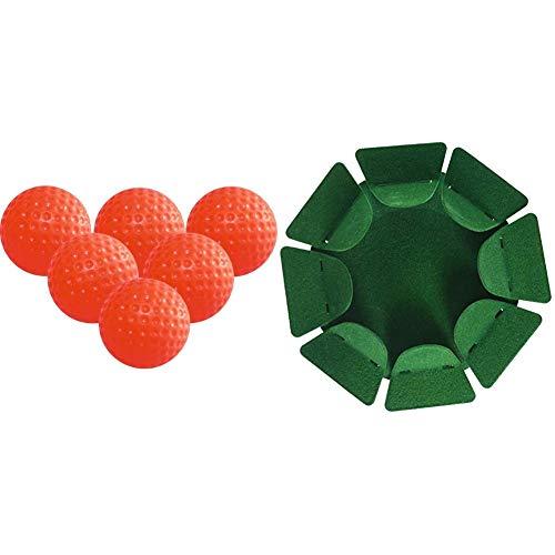 Longridge Trainings-Golfbälle Gelee, 6 Stück, orange & ÜBUNGSHILFE Putting Cup AUS Metall, GRÜN