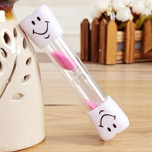 Timer Hot 3 Minuten Clocks Hourglasses Zahnbürste Timer for Bürsten Kinder Zähne Smiley Sand Timer Home Decor küchentimer (Color : Pink, Size : 3min)