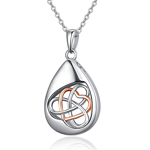 Cremation Jewelry for Ashes 925 Sterling Silver Celtic Knot Urn Necklace for Ashes Women Cherish Memories Jewelry to Keep Someone Near to You