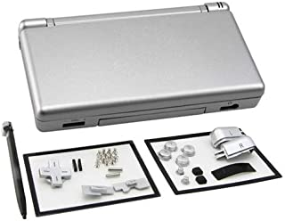 SHKRRB Full Repair Parts Replacement Housing Shell Case Kit for Nintendo DS Lite NDSL (Color : Silver)