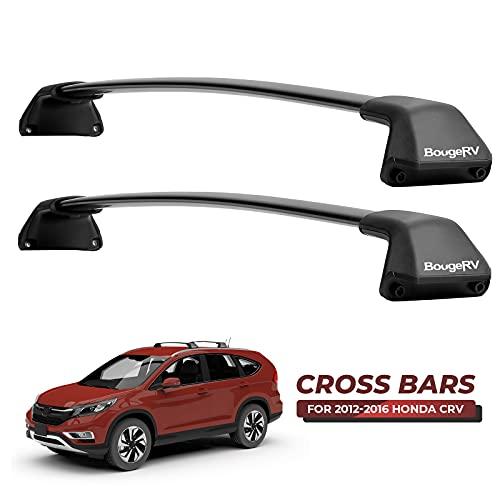 BougeRV Car Roof Rack Cross Bar for Honda CRV 2012-2016 with Side Rails, Aluminum Cross Bar Replacement for Rooftop Cargo Carrier Bag Luggage Kayak Canoe Bike Snowboard Skiboard