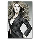 WPQL Celine Dion Poster moderne pour salon, maison, hôtel, décoration murale, 40 x 60 cm
