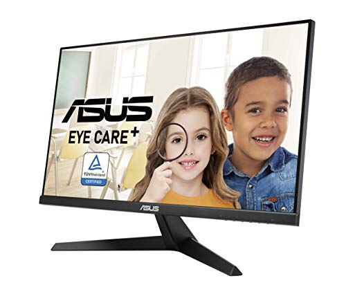 ASUS VY249HE 60,5 cm (23,8 Zoll) Eye-Care Monitor (Full HD, 75Hz, IPS, FreeSync, Blaulichtfilter, VGA, HDMI, 1ms Reaktionszeit)