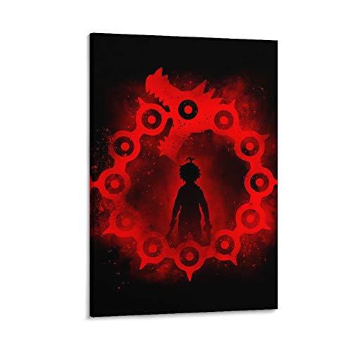 FGYUI Anime Dragon Pecado de la ira, impresiones modernas, decoración artística de pared, sin marco, para sala de estar, hoteles, salones, 45 x 30 cm