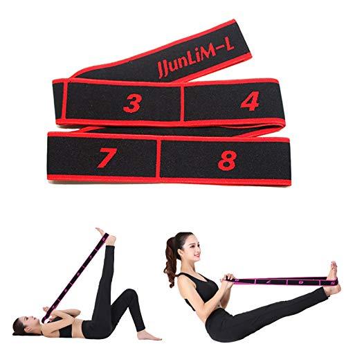 JJunLiM Bandas de bucles de Ejercicio Bandas de Entrenamiento de Danza Latina 15-20 kg Pilates Yoga Bandas de Resistencia al Estiramiento Bandas de Gimnasia elásticas para Ejercicios(90cm Red)