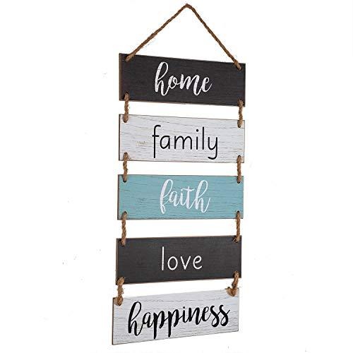 Signo de madera para colgar en la pared, para salón, dormitorio, baño, cocina, oficina, etc.