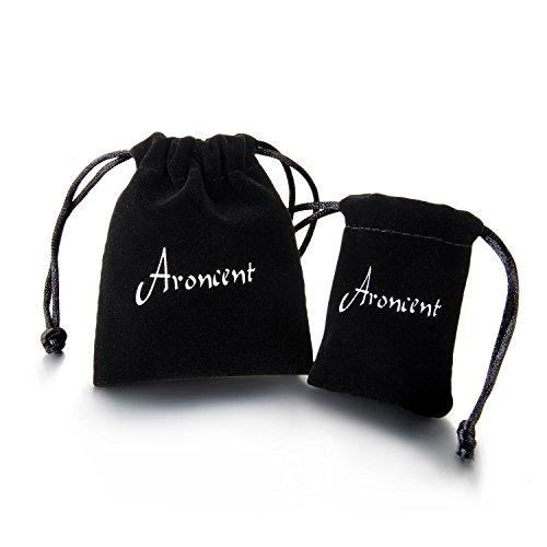 Aroncent 3 Pcs Mens Vintage Leather Wrist Band Brown Rope Bracelet Bangle