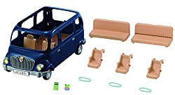 Blue Sylvanian families car This car can fit the whole family The second row is moveable to enable change in seating orientation Stimulating imaginative role-play in children Suitable for ages 3 years to 10 years
