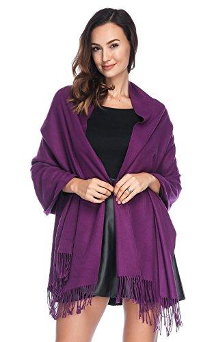 HOYAYO HOYAYO Einfarbiger schal für Frauen,Damen Umschlagtuch Warm Schal Tuch Stola(vielen Farben)