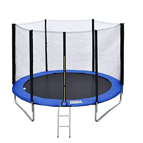 BENEFFITO Saltar - Trampolín Reversible - Red de protección con Cremallera - Altura del Suelo 76 cm - Verde Azul - Diámetro 305 cm