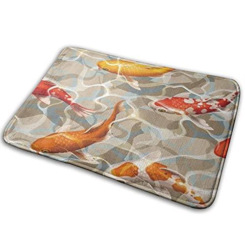 Dywaniki łazienkowe mata łazienkowa, kolorowe Kois w rzecce żywe karpiowe zwierzę karpiowe, antypoślizgowa mata prysznicowa bardzo przytulny dywanik podłogowy wycieraczki dywany dekoracje łazienkowe 40 cm x 60 cm