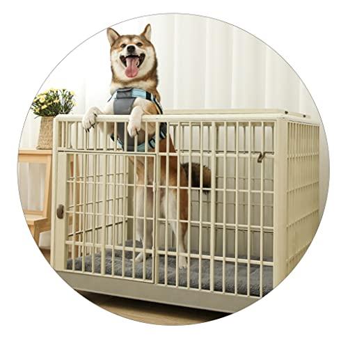 Jaula para Mascotas Pequeña Villa Grande para Interiores para Perros Y Gatos con Inodoro Fácil De Mover, Guardar La Jaula para Mascotas Doméstica No Oxidada, No Es Fácil De Deformar