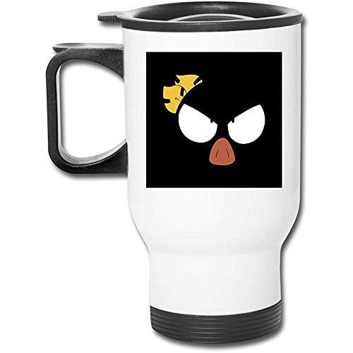 Ranma One Half P Chan Face 16 Oz Vaso de acero inoxidable Taza de café de vacío de doble pared con tapa a prueba de salpicaduras