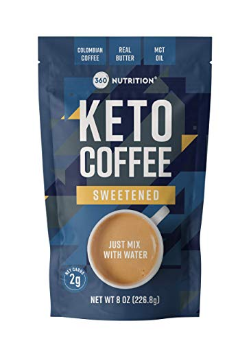 360 Nutrition Instant Keto Coffee - Just Add Water (Sweetened)