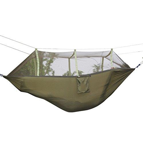 MONEYY Hamac avec des moustiquaires Swing Simple Double Chambre Anti-Moustique Quarts maillé extérieur Camping Vert armée Camouflage 260 * 40cm,260 * 40cm,Un Ascenseur