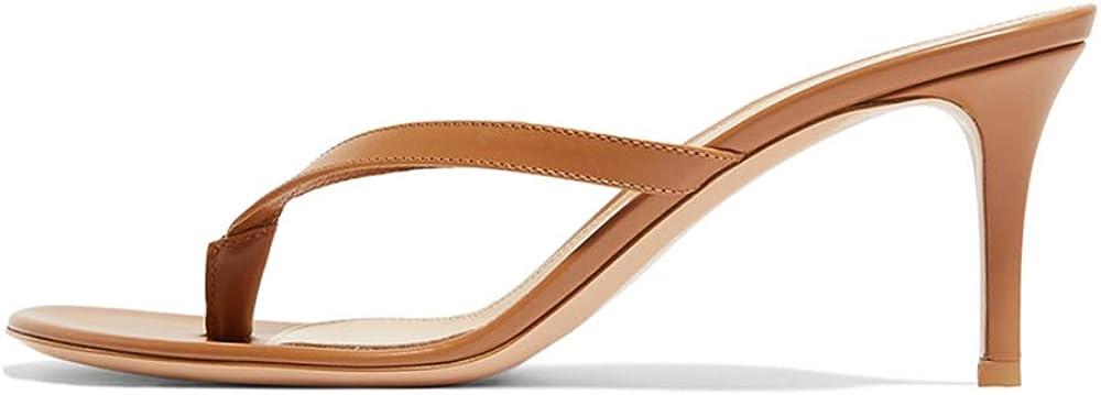 Amy Q Women's High Heel Sandals Heeled Flip Flops