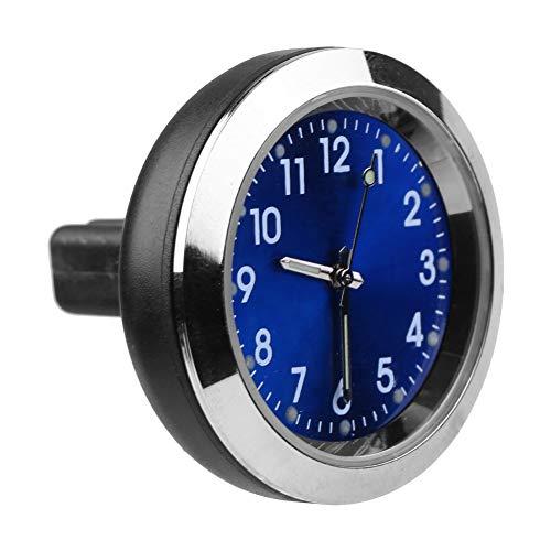 Gorgeri Mini reloj automotriz para automóvil, reloj de aromaterapia para interior del automóvil Reloj de salida de aire Medidor de clip Reloj electrónico Recarga de perfume(Azul)