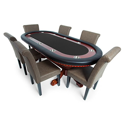 Check Out This BBO Poker Rockwell Poker Table for 10 Players with Black Speed Cloth Playing Surface,...