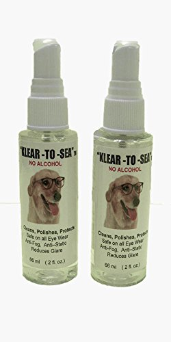 "Doctor Klear's Klear to Sea (2)2oz Pump Spray Bottles. Ammonia & alcohol free. Safe on all optical surfaces. Leaves a ""Klear"" lustrous look w/ no wax on all electronic screens & all eyeglasses. Safe on all Costa del Mar and other expensive lenses. Convenient Travel Size for your brief case, hand bag, office desk, etc."