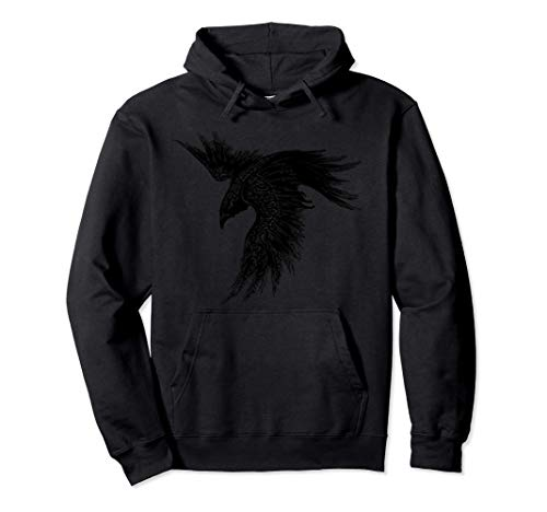Crow Raven Norse Mythology Viking Gift for Vikings lover Pullover Hoodie