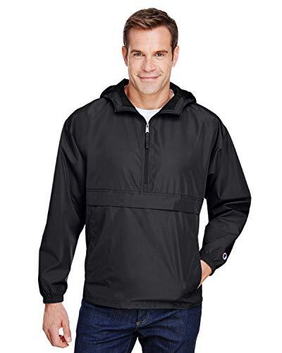 Champion - Packable Quarter-Zip Jacket - CO200 - XL - Black