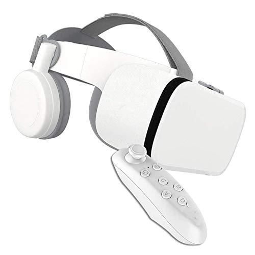 LAHappy 3D VR Gafas de Realidad Virtual, con Control Remoto Gafas 3D VR, Auriculares Incorporados, 110 Grados FOV Botón, para iOS y Android con Pantalla de 4,7 a 6,2 Pulgadas