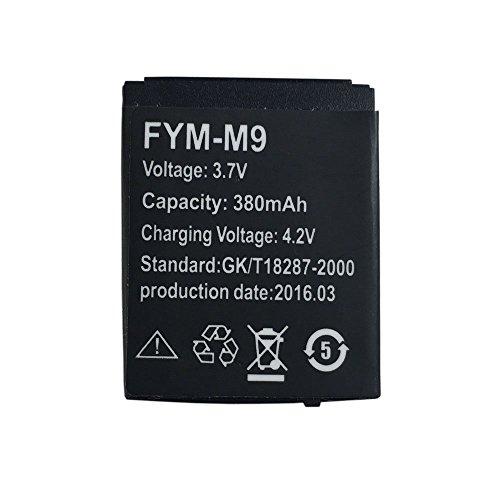 OCTelect Smart Watch Batterie M9/FYM-M9 wiederaufladbare Lithium-Batterie mit 380MAH voller Kapazität