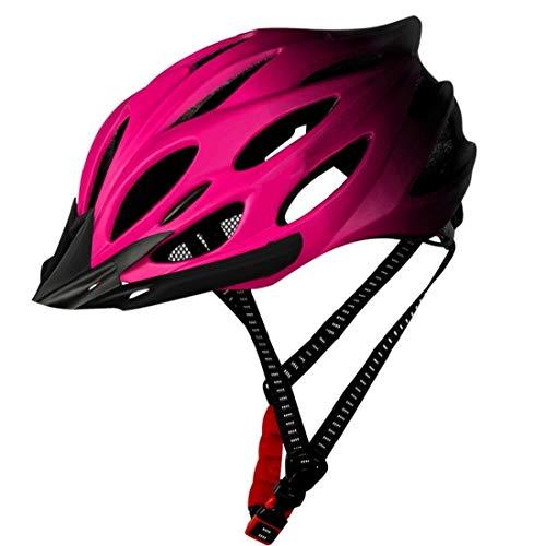 Casco Da Bicicletta Per Adulti Leggero Casco Della Bici Casco Della Bicicletta Con Fanale Posteriore Regolabile Per Uomo Donna Rosa