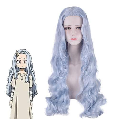 Anime Boku No My Hero Academia Eri peluca 80 cm largo azul gris pelo sinttico mezclado disfraz de Halloween pelucas de cosplay