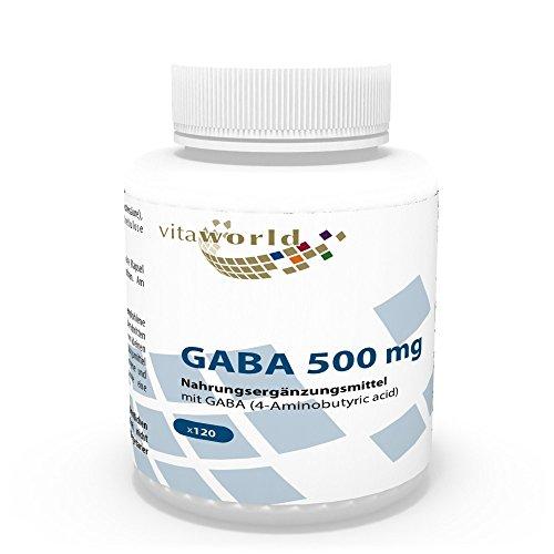 GABA 500mg 120 Cápsulas Vita World Farmacia Alemania - Ácido Gamma Amino Butírico -