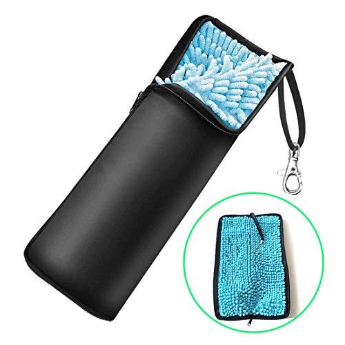 折り畳み傘カバー 超吸水 傘ケース 2面吸水 梅雨対策 折り畳み傘袋 マイクロファイバー 軽量 携帯便利 32cm...