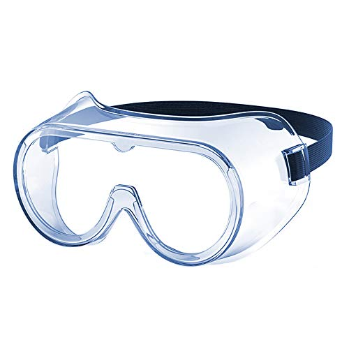 Safety Glass Safety Goggles Anti Fog Dust Fully Sealed Anti Spray Goggles-High Impact Resistance Crystal Clear Wrap-Around Lenses Eyewear Safety Goggles For Chemical, Lab, And Workplace Safety
