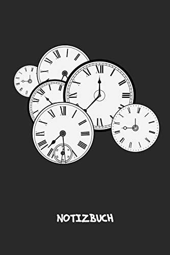 NOTIZBUCH: A5 Liniert Retro Fans Schreibblock - Notizblock 120 Seiten 6x9 inch Tagebuch für Erwachsene - Wanduhr Retro Notizheft Wecker Vintage-Fans Geschenk 60er Jahre Stil - Matte Cover