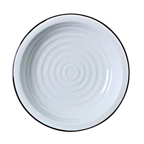 AMBH keramische servies Frans soepbord eetbord van keramiek diner bord restaurant diepe soepbord fruitschaal ronde soepkom bord bord sla plaat L19.12.30