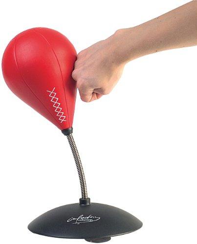 infactory Tisch Boxsack: Tisch-Punching-Ball mit Sound (Punchingball Schreibtisch)