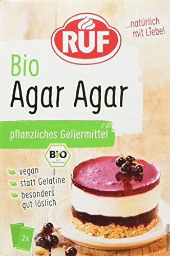 RUF Bio Agar Agar rein pflanzliches Geliermittel statt Gelatine, 1 x 30g