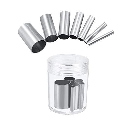 Hileyu 7 Pezzi Tagliapasta Rotondo Acciaio Inox Coppapasta Tondi Metallo Anelli con Una Scatola di Immagazzinaggio per Biscotti Dolci Argilla Ceramica Mestiere Fai da Te