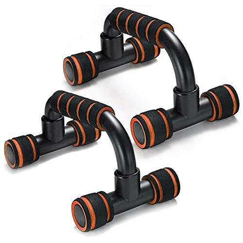 Adkwse Liegestütze,Liegestützgriffe 2er-Set Liegestütz Griff mit rutschfeste,Professional Push Up Bars für Muskeltraining und Krafttraining(Orange)