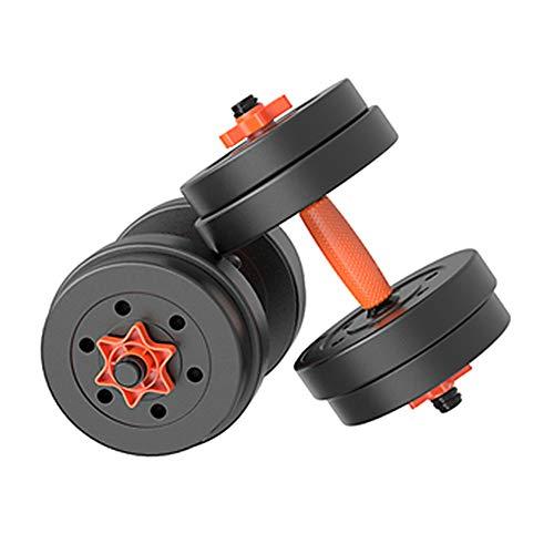 Hanteln 10 kg (EIN Paar) / 15 kg (EIN Paar) / 20 kg (EIN Paar) Herren-Fitness-Langhantel-Set Gewichtheben Kniebeugen-Hantel mit gerader Stange, einstellbares Gewicht, Kurzhantel-Fitnessgeräte