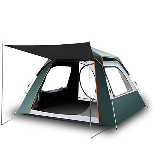 SUIKUI Anti-UV Pop Up Camping Tent(4 Person)-Instant Set Up(60s)-Waterproof-Windproof-Perfect for Camping,Hiking,Traveling,Beach