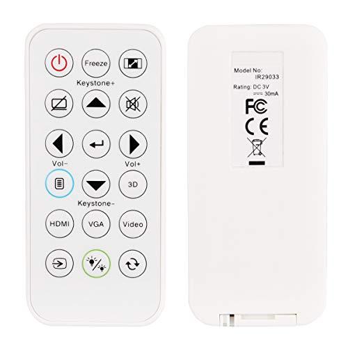 Aimdio Telecomando Proiettore per Optoma W330, H184x, H114, EH334, X400+, EH400, S321, S322e, S331, S334, S334e, S341, S342e, S343, S343e, W400+, X340, X341, X343, X343e, WU334 Videoproiettore