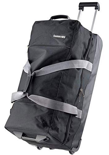 Reisetasche-Reisetrolley-Tasche-Doppeldecker-Schuhfach-Schwarz-75 cm-Bowatex