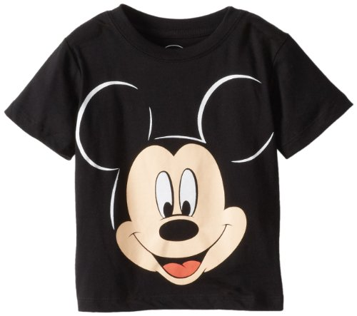 Disney Mickey Mouse Little Boys' Face Toddler T-Shirt, Black, 2T