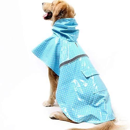 Ksith regenjas voor huisdieren, waterdicht, met capuchon, Labrador Golden Retriever voor grote en middelgrote honden, reflecterend, waterdicht, XS, H