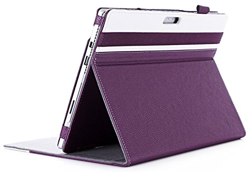 ProCase Surface Pro 7 / Pro 6 / Pro 2017 / Pro 4 / Pro LTE/Pro 3 Case - Folio Cover Case for Microsoft Surface Pro 6 / Pro 2017 / Pro 4 / Pro LTE/Pro 3, Compatible with Type Cover Keyboard –Purple