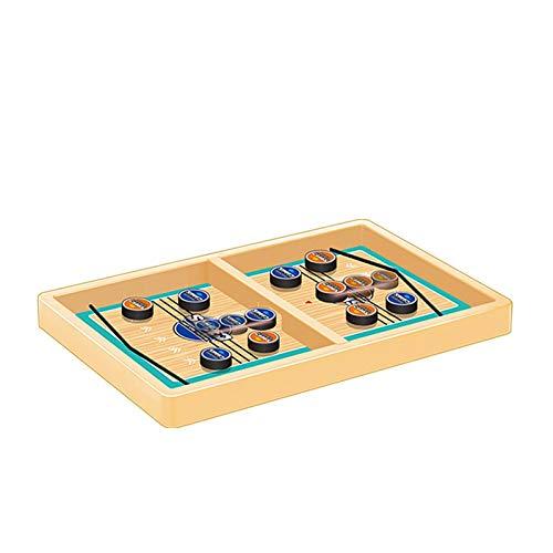 tidystore Fast Sling Puck Game, juego de mesa para adultos – Desktop   Wooden Hockey Game para niños