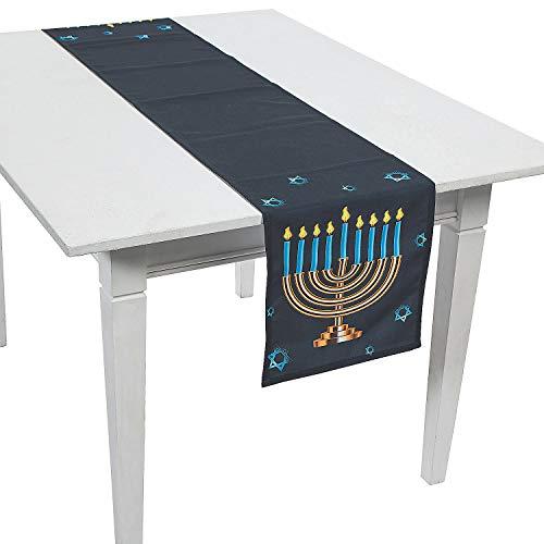 Fun Express Menorah Table Runner for Hanukkah (70 inches Long) Home Decor