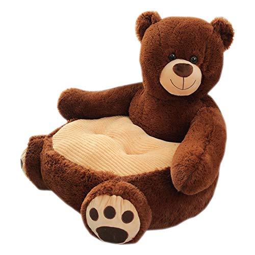 TYCOLIT Baby Sofa Stützsitz, Kinderstuhl, Plüsch-teddybär Sofasitz Für Weiches Stuhlkissen Kinder Fütterungssichere Sofas Möbel, Sehr Kuschelig - Waschbar, 50 × 50 × 42 cm (Braunbär B)