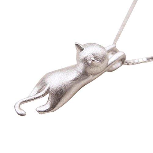 Naisicatar Halskette mit Anhänger, Katze, Schmuck für Damen und Mädchen, Abendveranstaltung, Hochzeit, Valentinstag, Geburtstagsgeschenke x 1