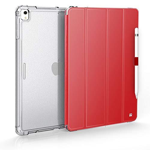 IBROZ - Custodia Rigida iGuard Antiurto + Smart Cover per iPad PRO 12,9' 2017/2015 (1st & 2nd Gen) – iPad PRO 12,9' (Nero) Rosso Rosso